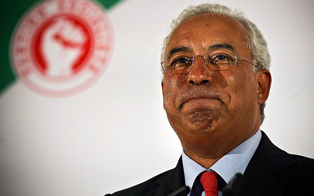 The secretary-general of the Portuguese Socialist Party, Antonio Costa, during his speech after the results that give the victory to the PSD - CDS/PP coalition, Lisbon, Portugal, 04 October 2015